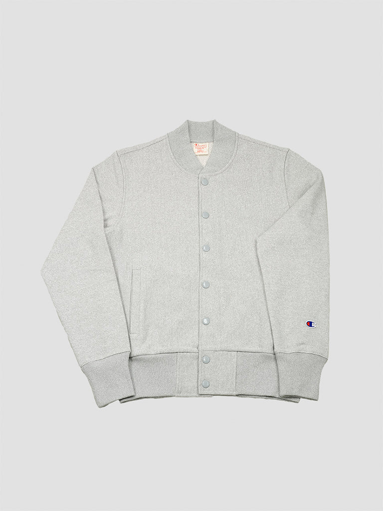 Reverse weave bomber in grey by Champion