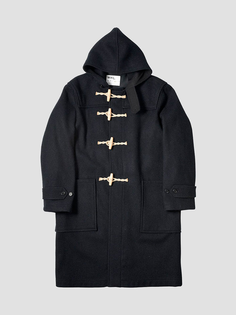 Navy duffle coat made by Margaret Howell
