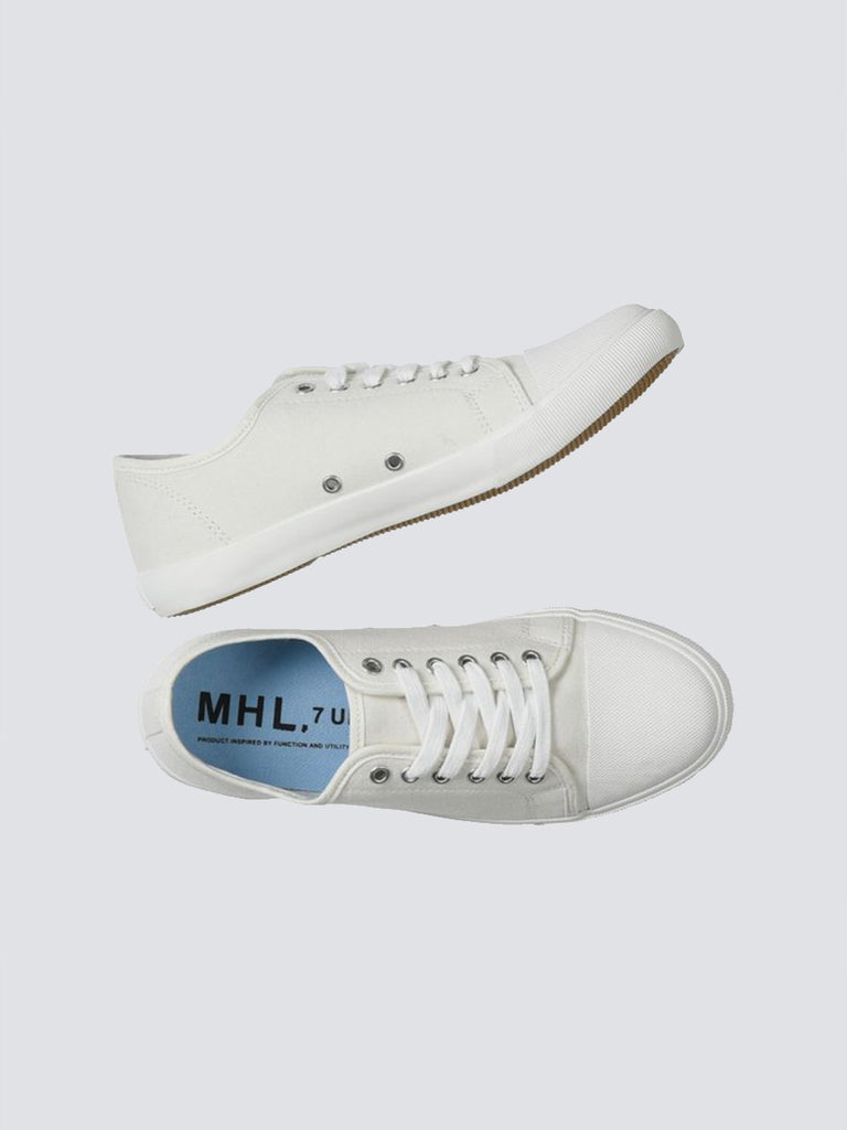 MHL military plimsole white