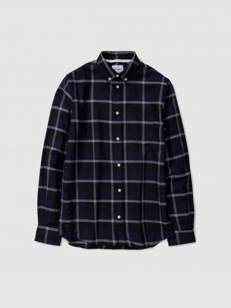 Anton Check in navy/charcoal