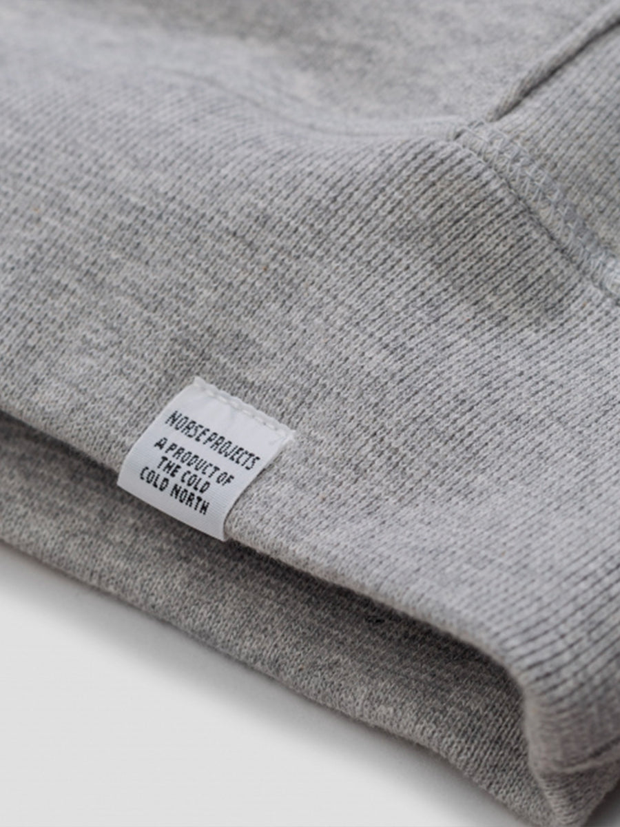 ketel classic hood sewatshirt in grey by Norse Projects