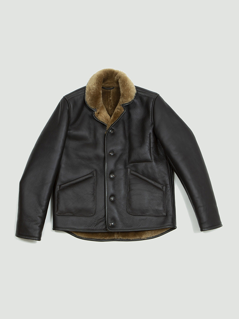 YMC. Brainticket leather jacket brown