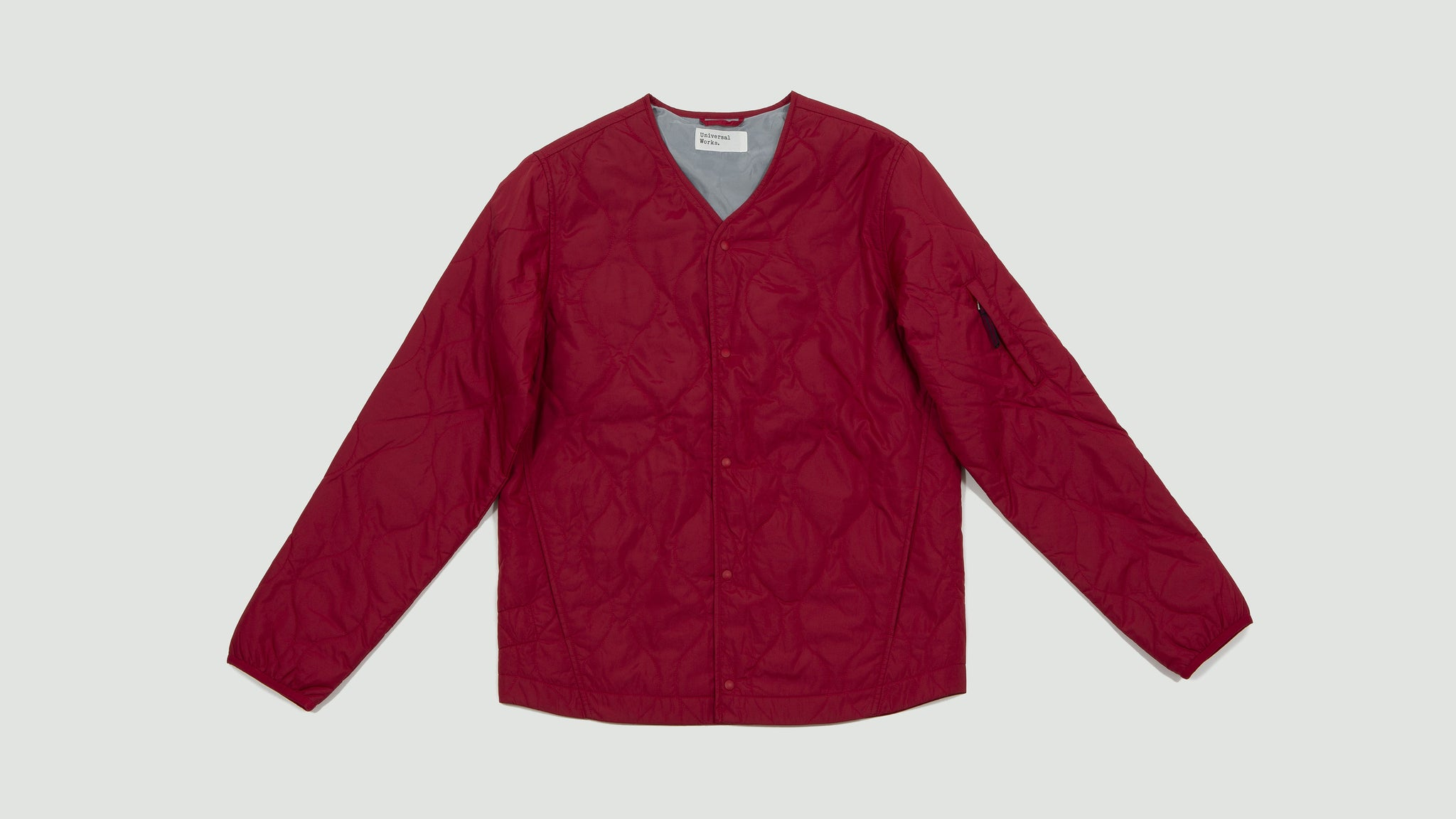 Universal Works. Surfer jacket italian nylon red