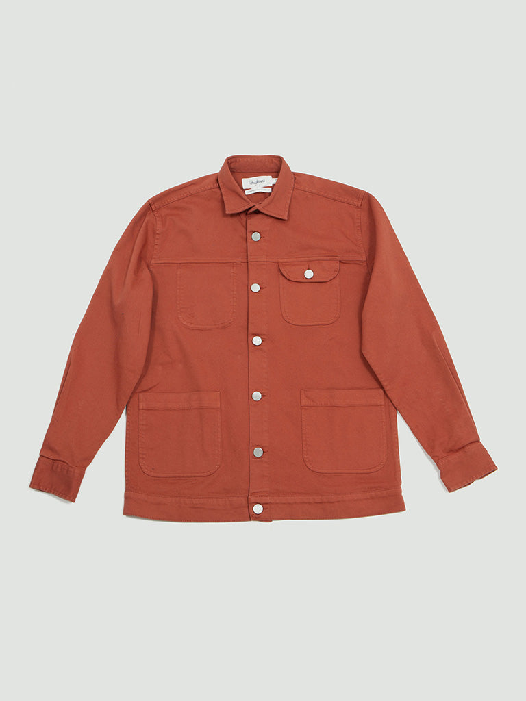 Schnayderman's. Overshirt denim dyed rust