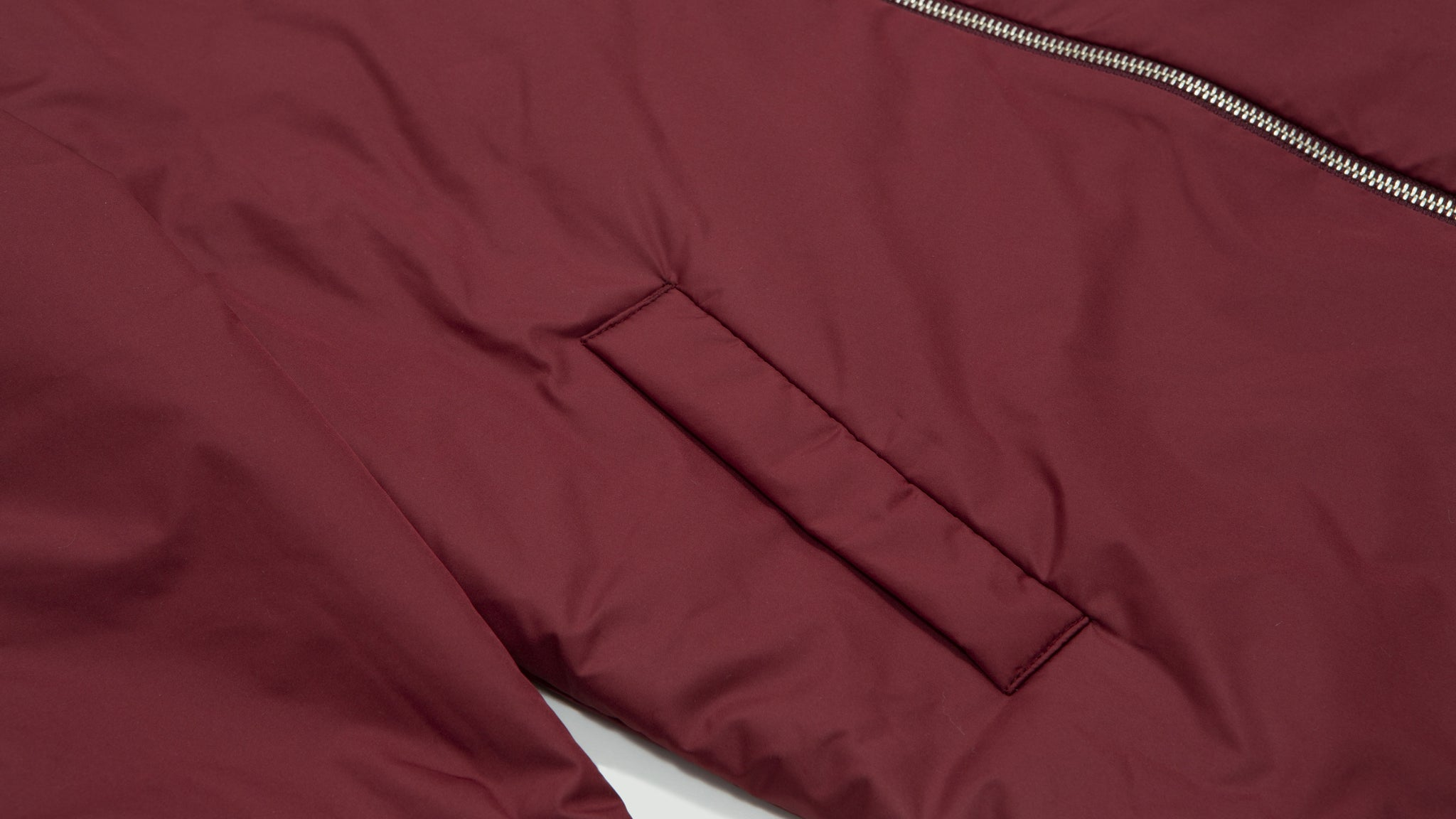 Schnayderman's. Overshirt bomber one burgundy
