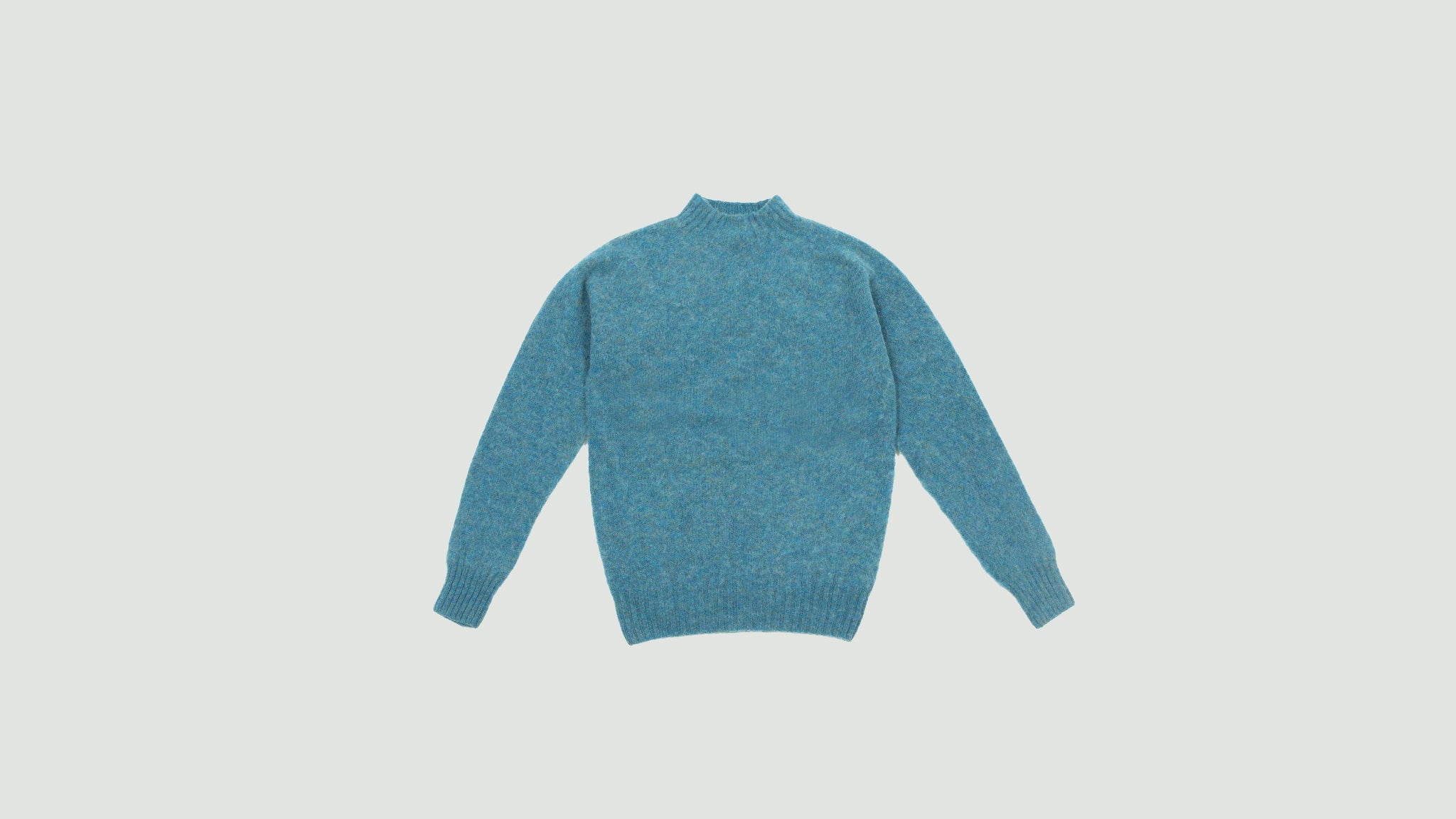 YMC. Montand turtleneck sweater blue