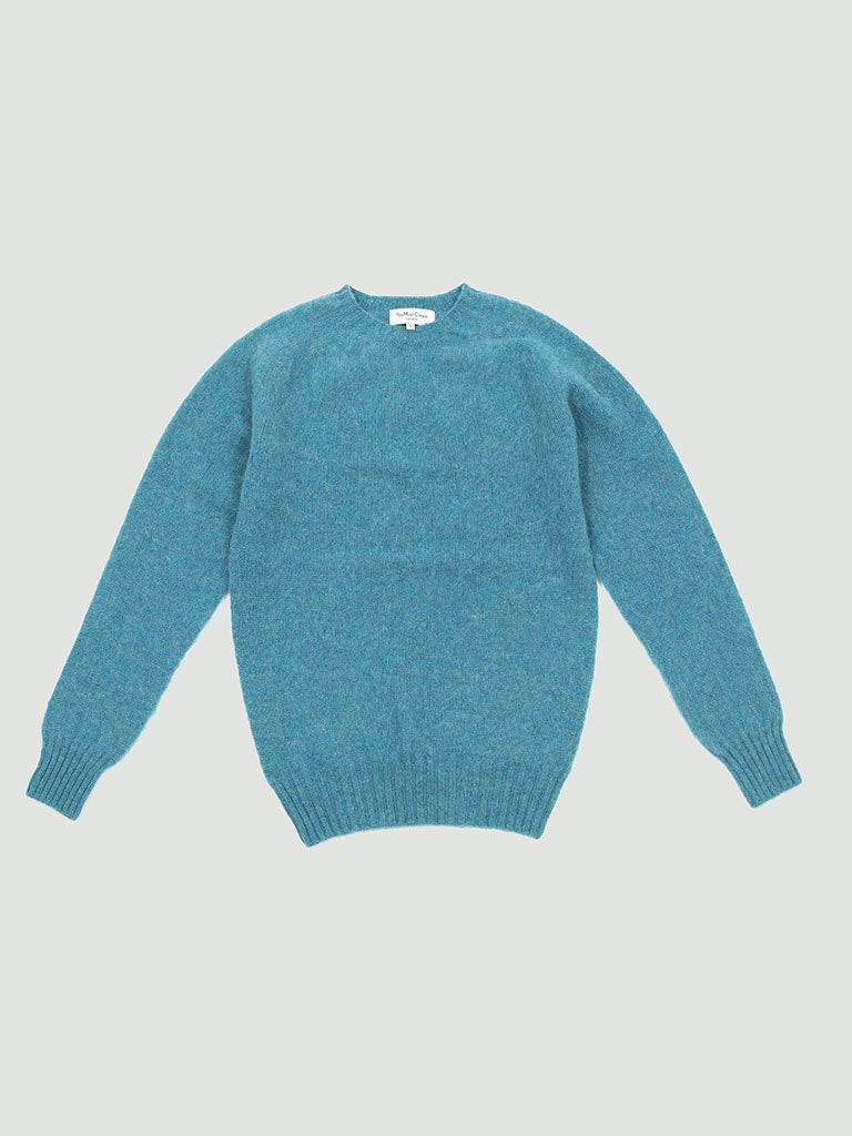 YMC. Suedehead Crew sweater blue