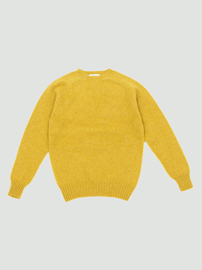 YMC. Suedehead Crew sweater yellow