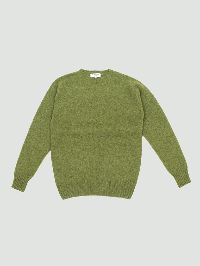 YMC. Suedehead Crew sweater green