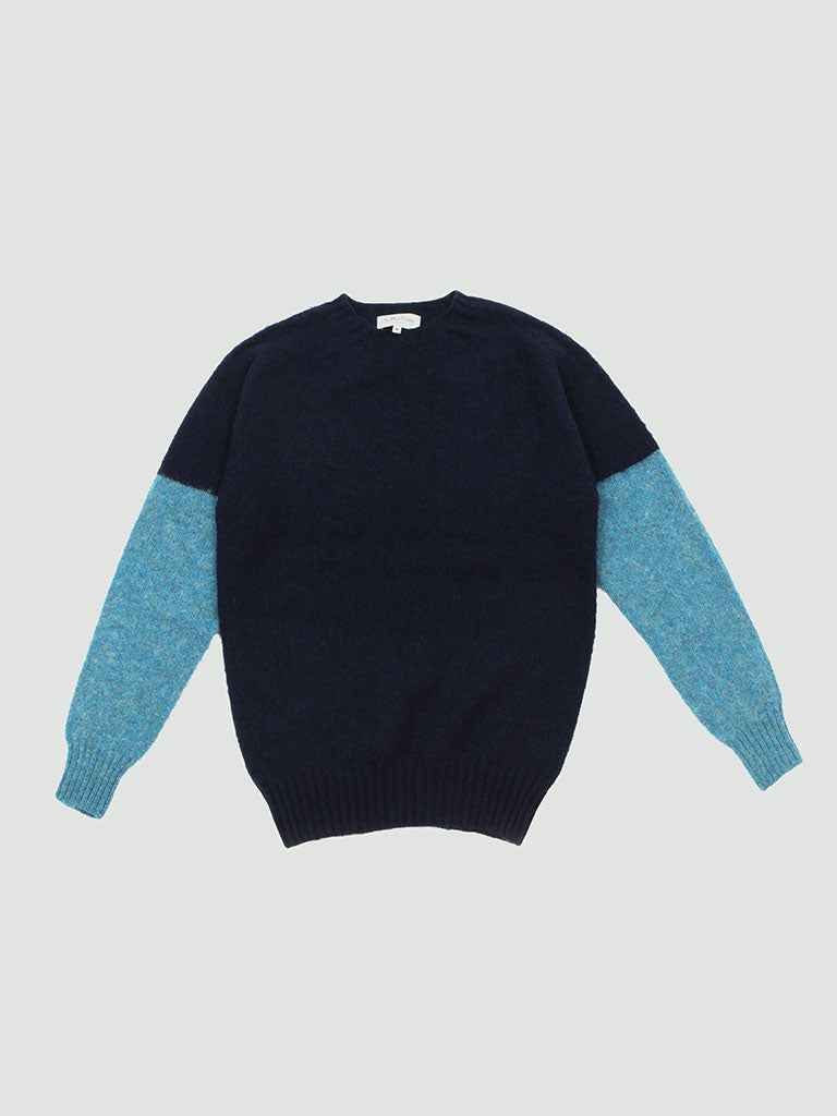 YMC. Skate or Die Crew sweater navy/blue