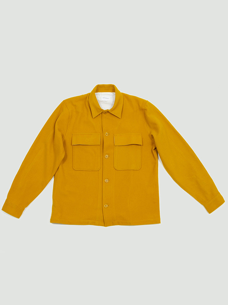 Norse Projects. Kyle wool overshirt mustard