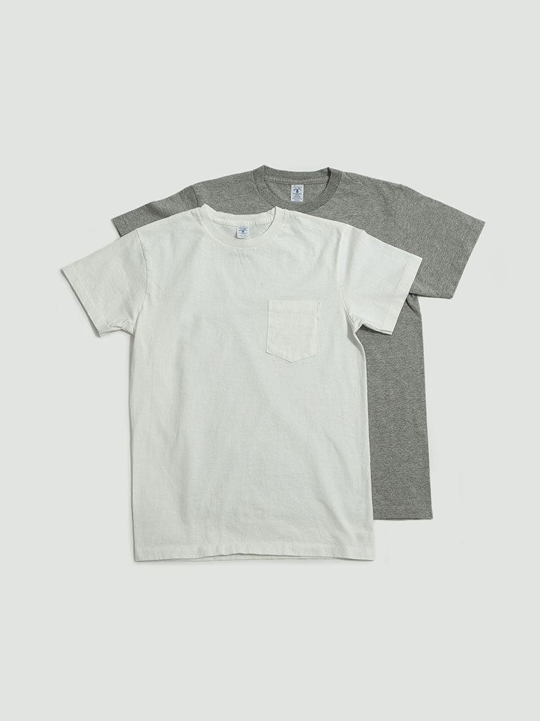 Velva Sheen. 2 Pack tee white/grey
