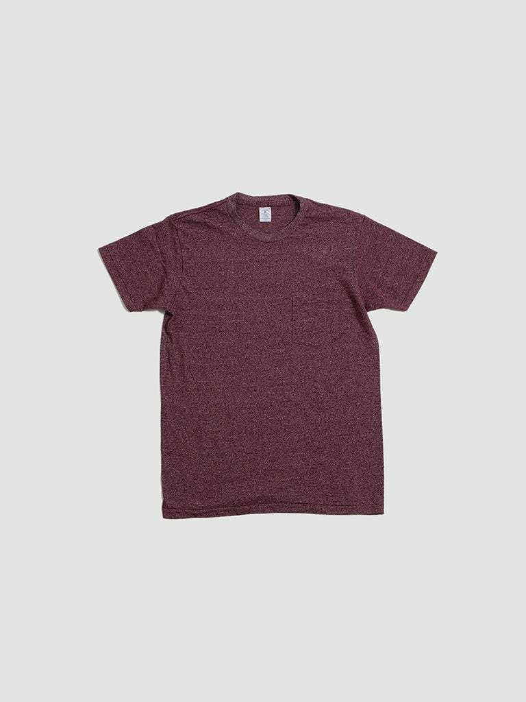 Velva Sheen. Mock twist tee burgundy