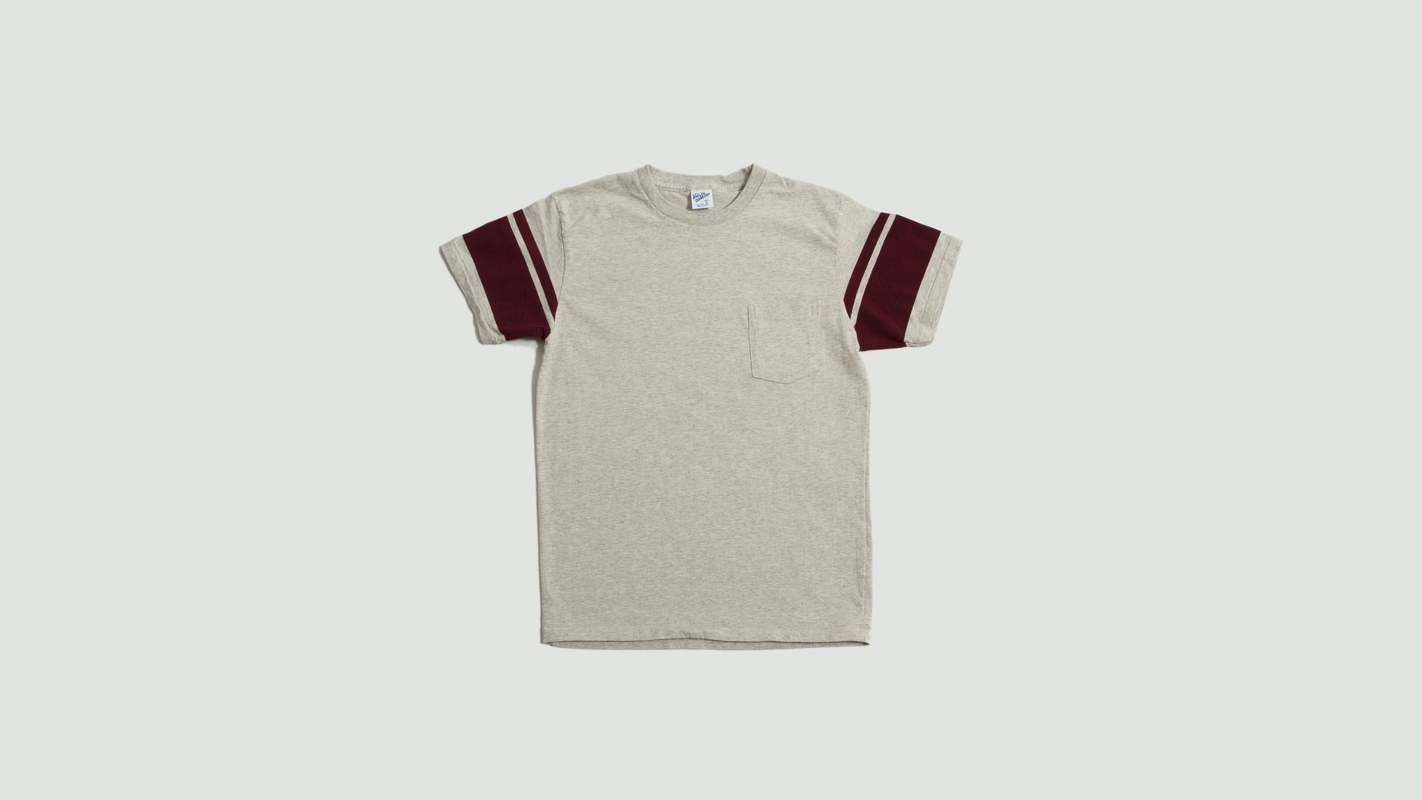 Velva Sheen. College arm stripe tee oatmeal