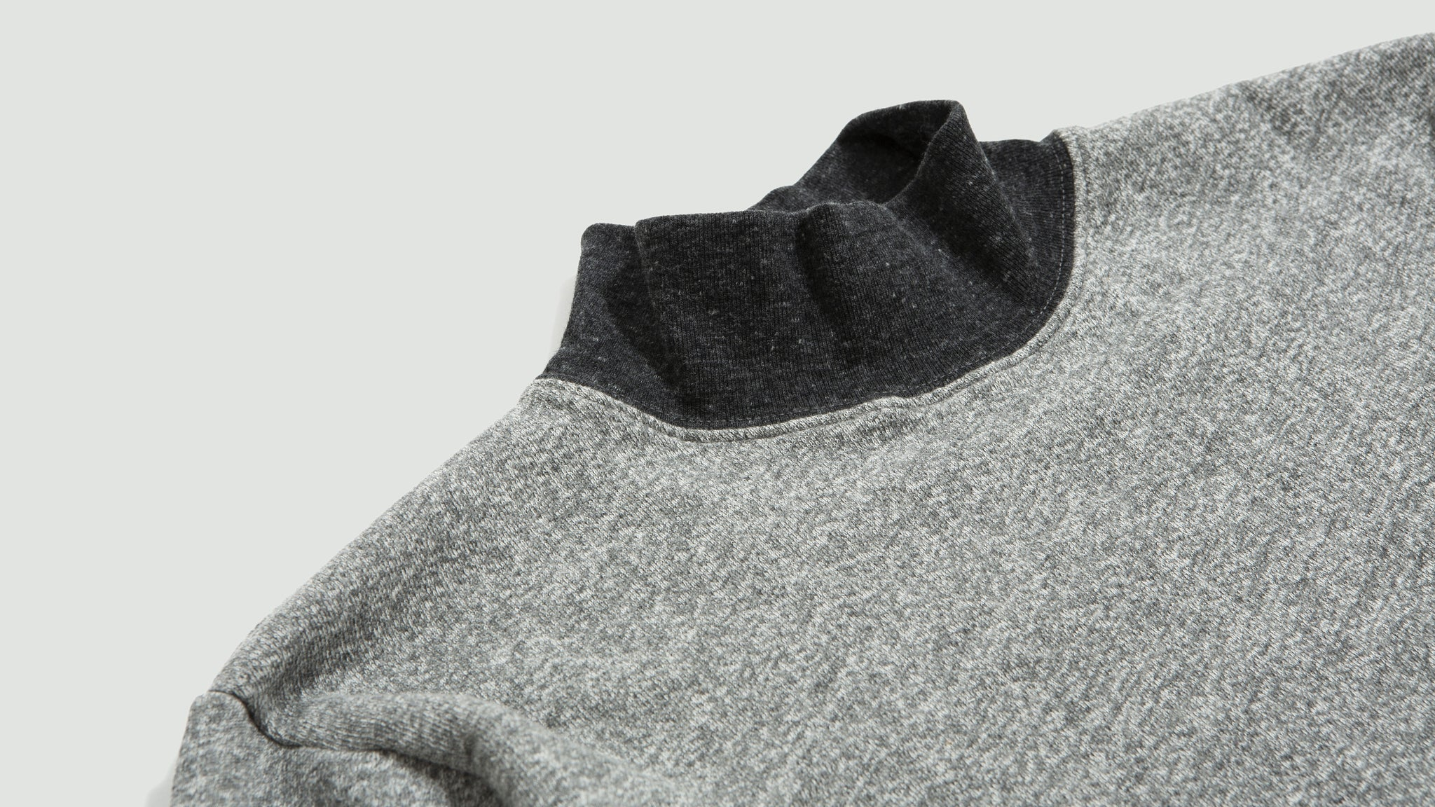 Velva Sheen. Stay mock neck tee grey