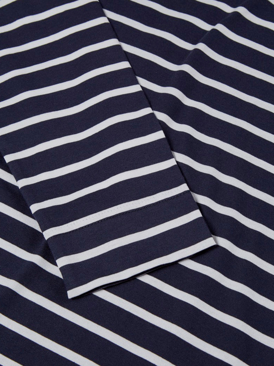 Long Sleeved T-shirt in breton stripes