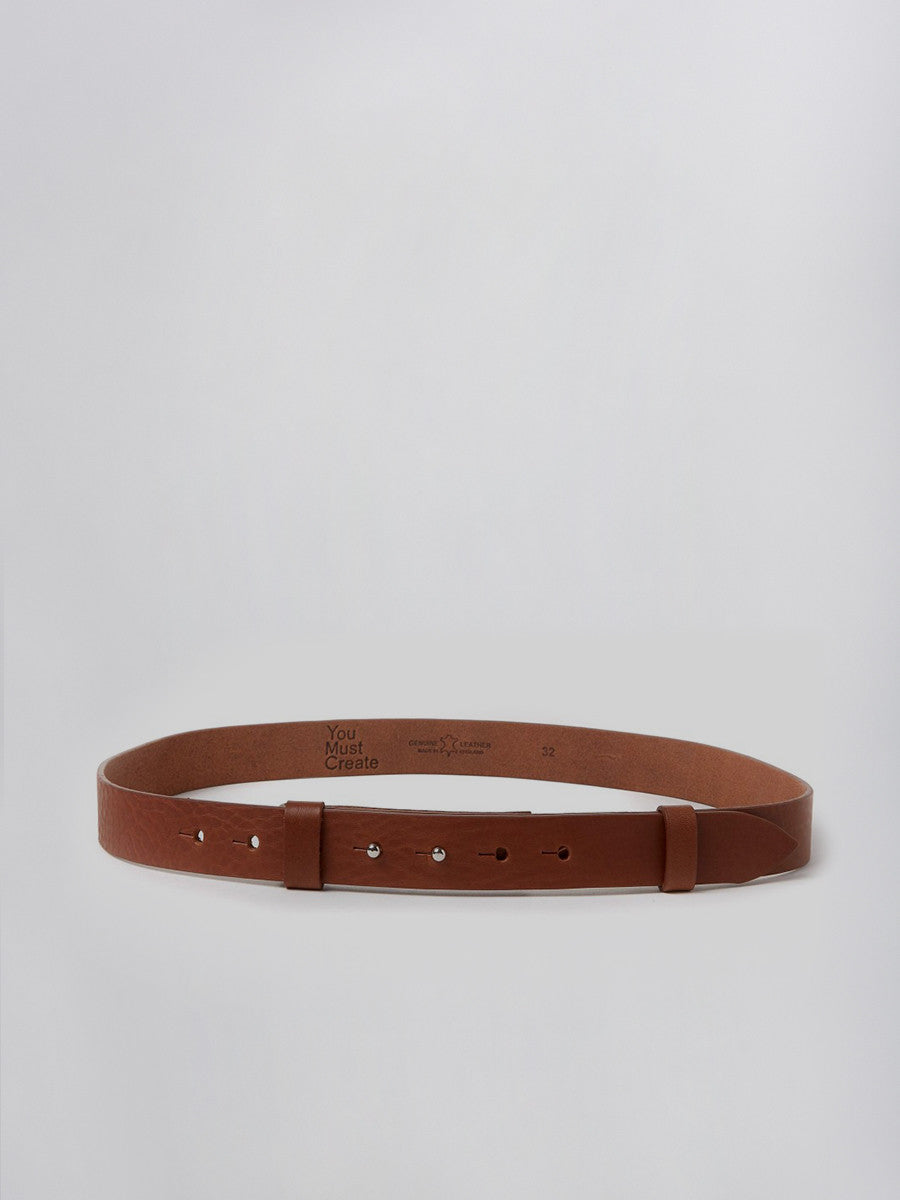 Minimal belt brown