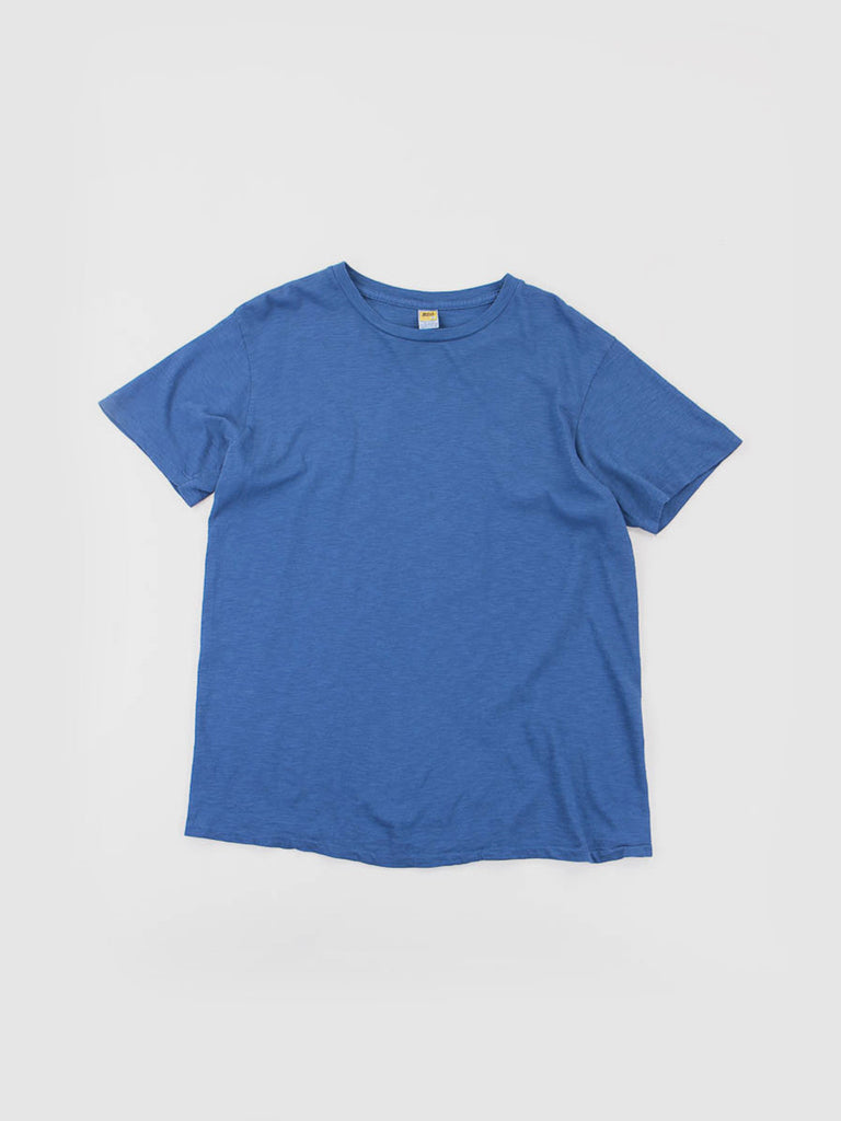 Blue Rolled Regular Tee by Velva Sheen. Made in USA