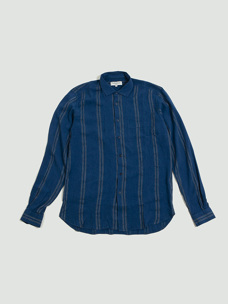 YMC. Curtis shirt blue