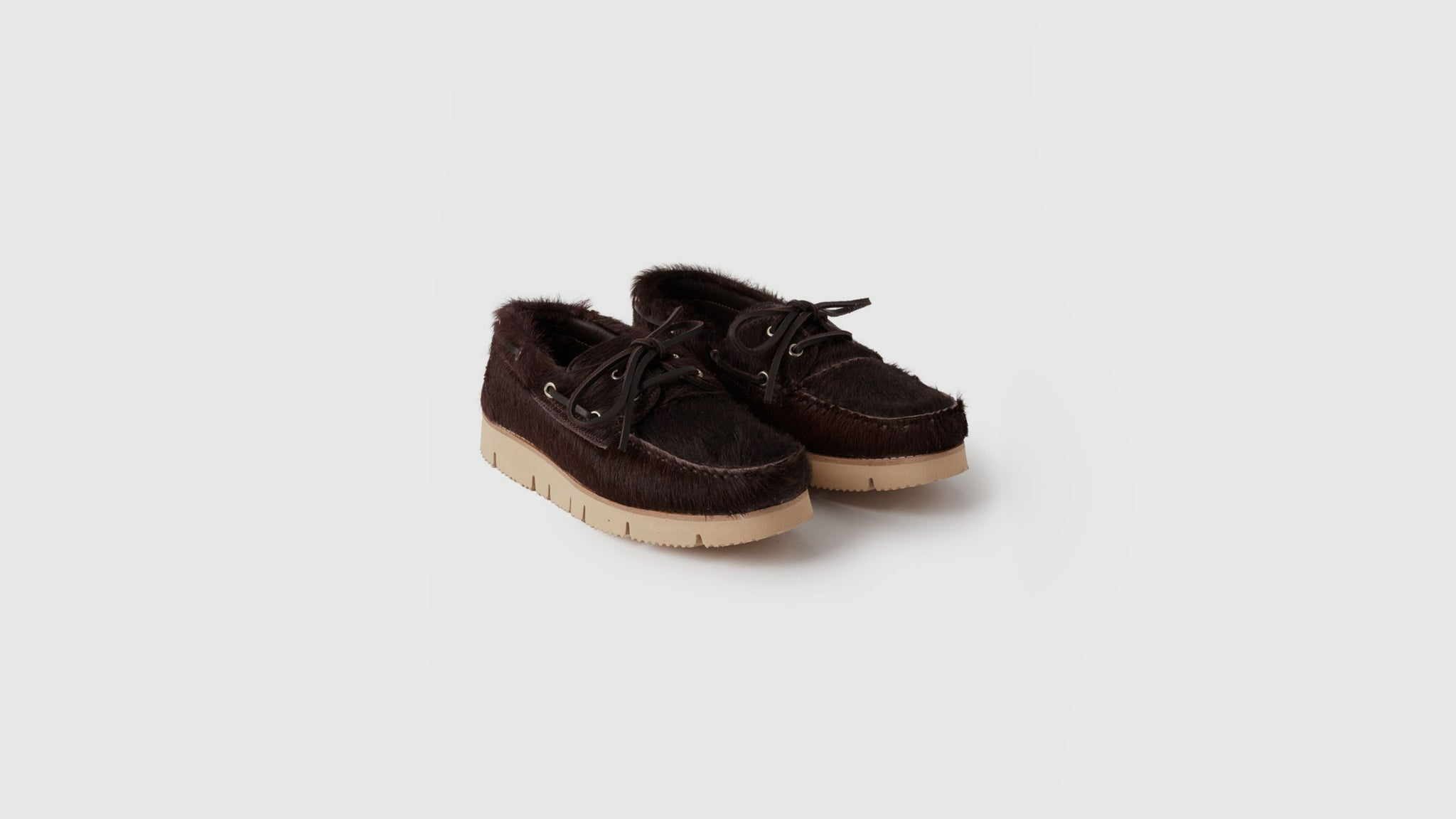 YMC. Boat shoes brown