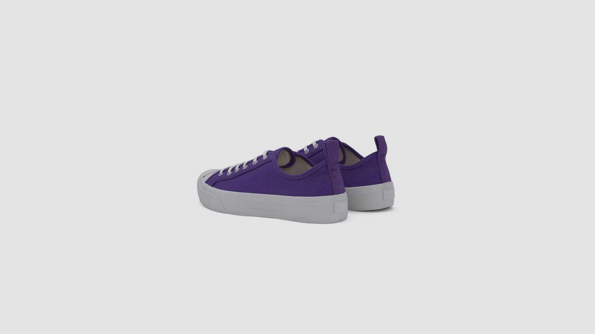 YMC. Wing Tip trainers purple