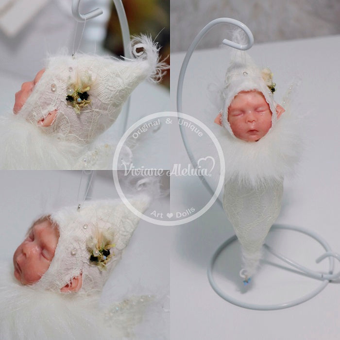 Merlin - Ooak Fairy Doll/Limited Edition Silicone Doll Ornament by the Artist Viviane Aleluia
