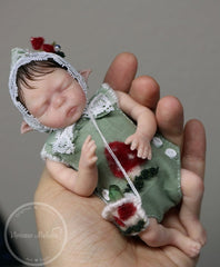 Piksy - Miniature Elf Baby Boy - Super soft blend EcoFlex silicone.