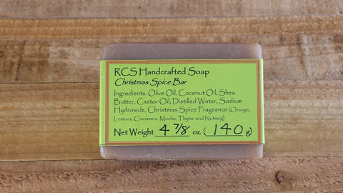 RCS Handcrafted Soap: Christmas Spice Bar