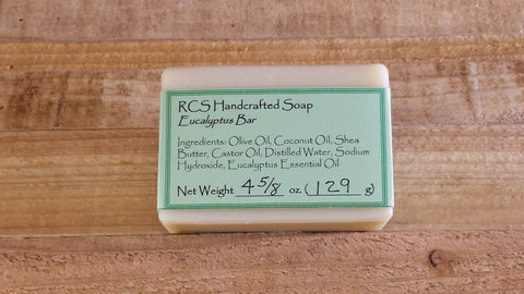 RCS Handcrafted Soap: Eucalyptus Bar