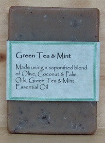 RCS Handcrafted Soap: Green Tea Mint Bar