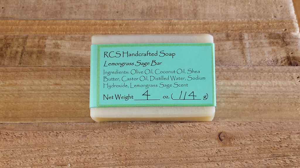 RCS Handcrafted Soap: Lemongrass Sage Bar