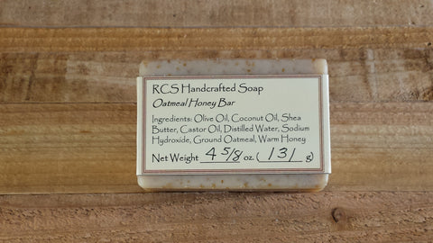 RCS Handcrafted Soap: Oatmeal Honey Bar