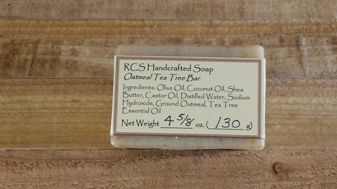 RCS Handcrafted Soap: Oatmeal Tea Tree Bar