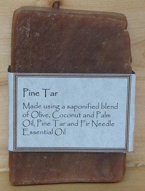 RCS Handcrafted Soap: Pine Tar Bar