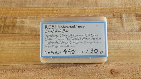 RCS Handcrafted Soap: Sleigh Ride Bar