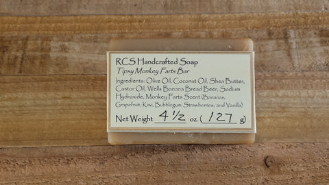 RCS Handcrafted Soap: Tipsy Monkey Farts Bar