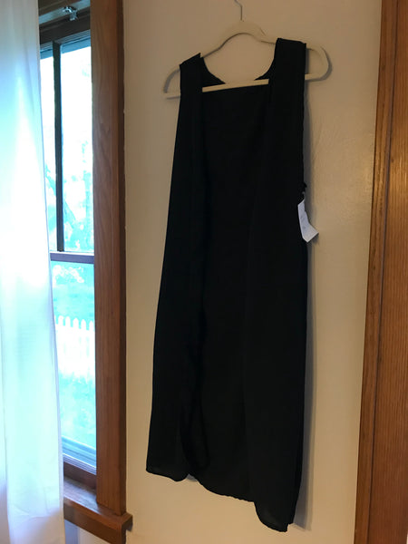 Adult Black Duster Vest XS/S
