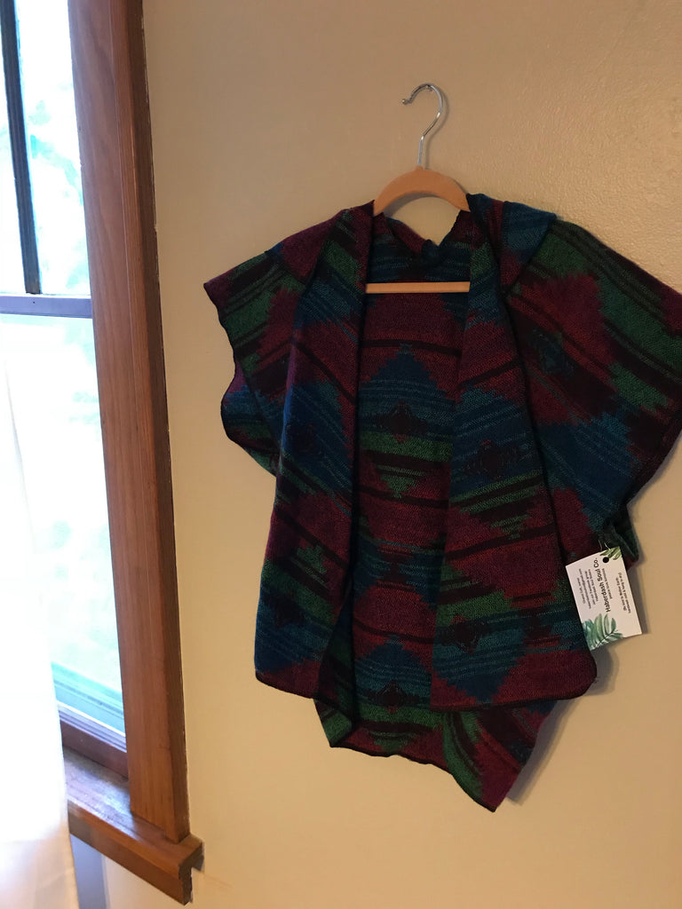 Child Navajo Kimono with hood 2T