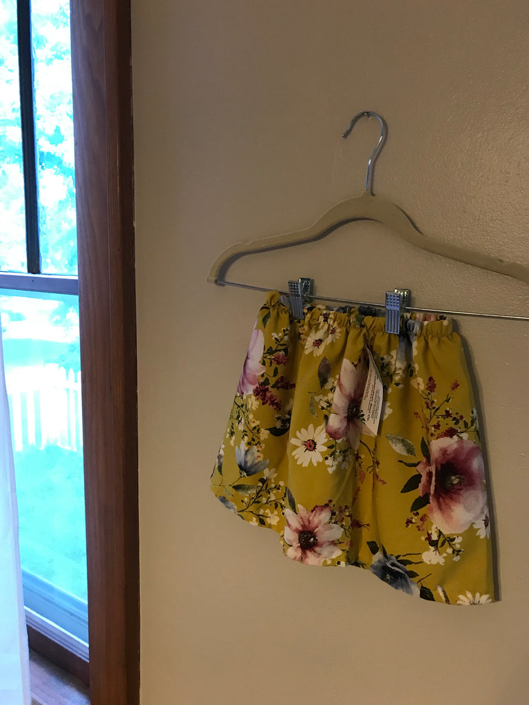 Child Chartreuse Skirt 2/3T