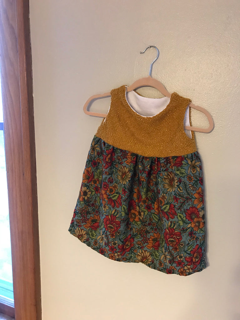 Child Fall Floral Dress 12m