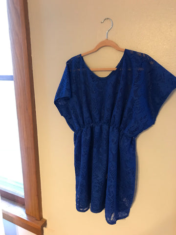 Child Royal Blue Swimsuit Coverup 5/6T