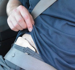 stoma guard seat belt protection