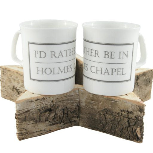 spoke I'd Rather Be in Holmes Chapel China Mug or Cup 1D One Direction HC