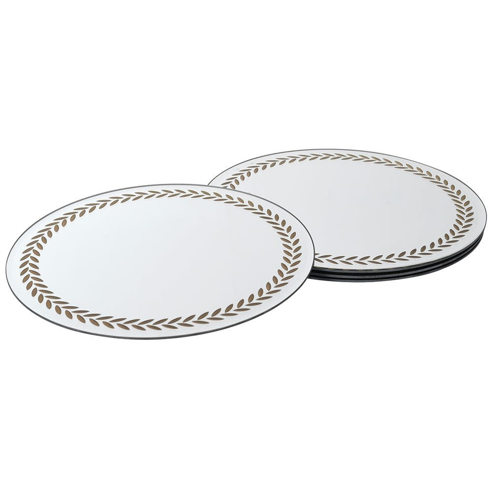 Mirrored Laurel Placemats