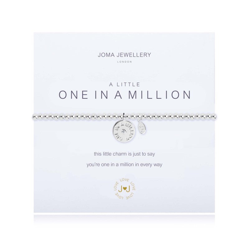 Joma A Little One in a Million Bracelet with disc silver charm