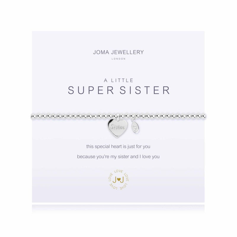 Joma A Little Super Sister bracelet with silver sister charm