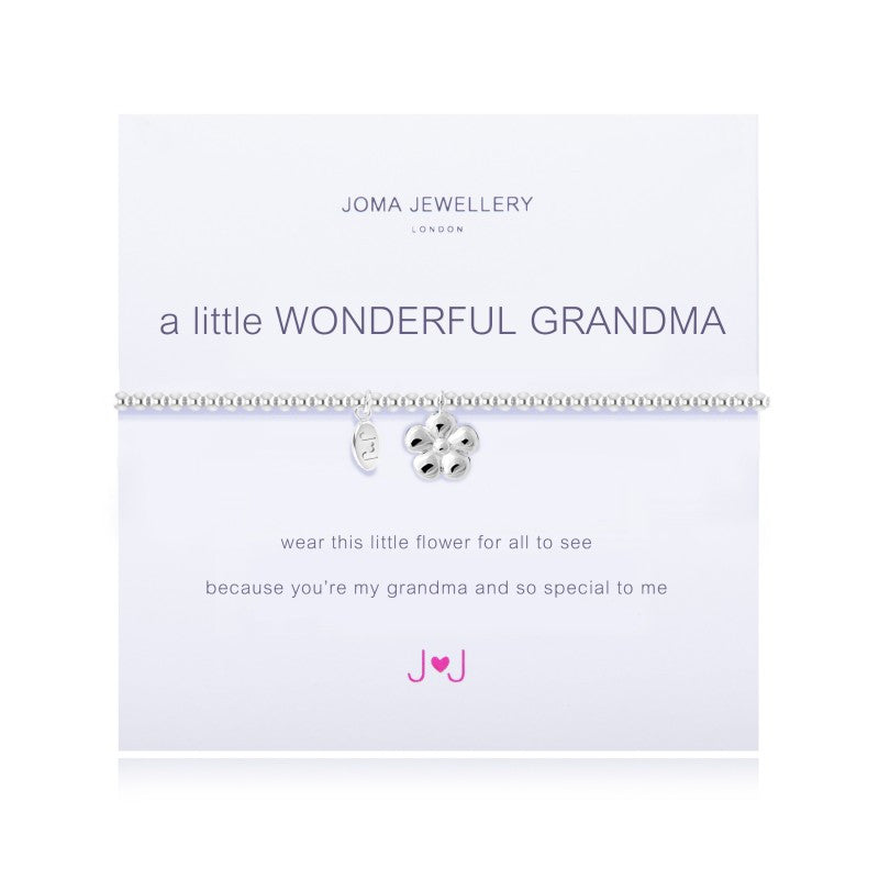 Joma A Little Wonderful Grandma bracelet with flower charm
