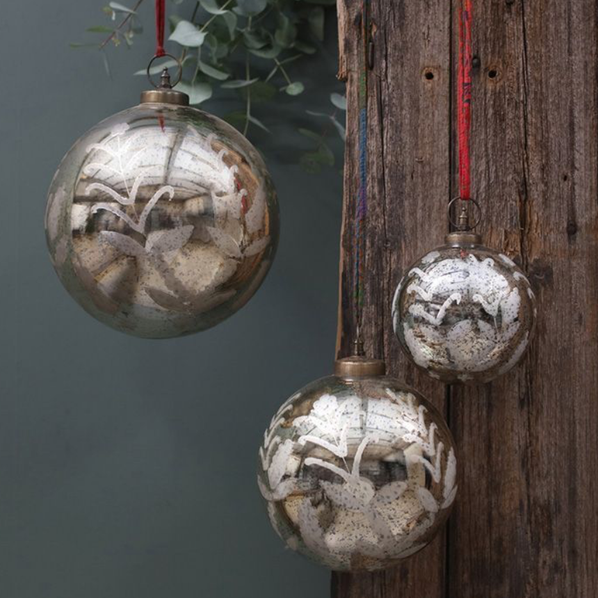 Giant Antique Gold Bauble's