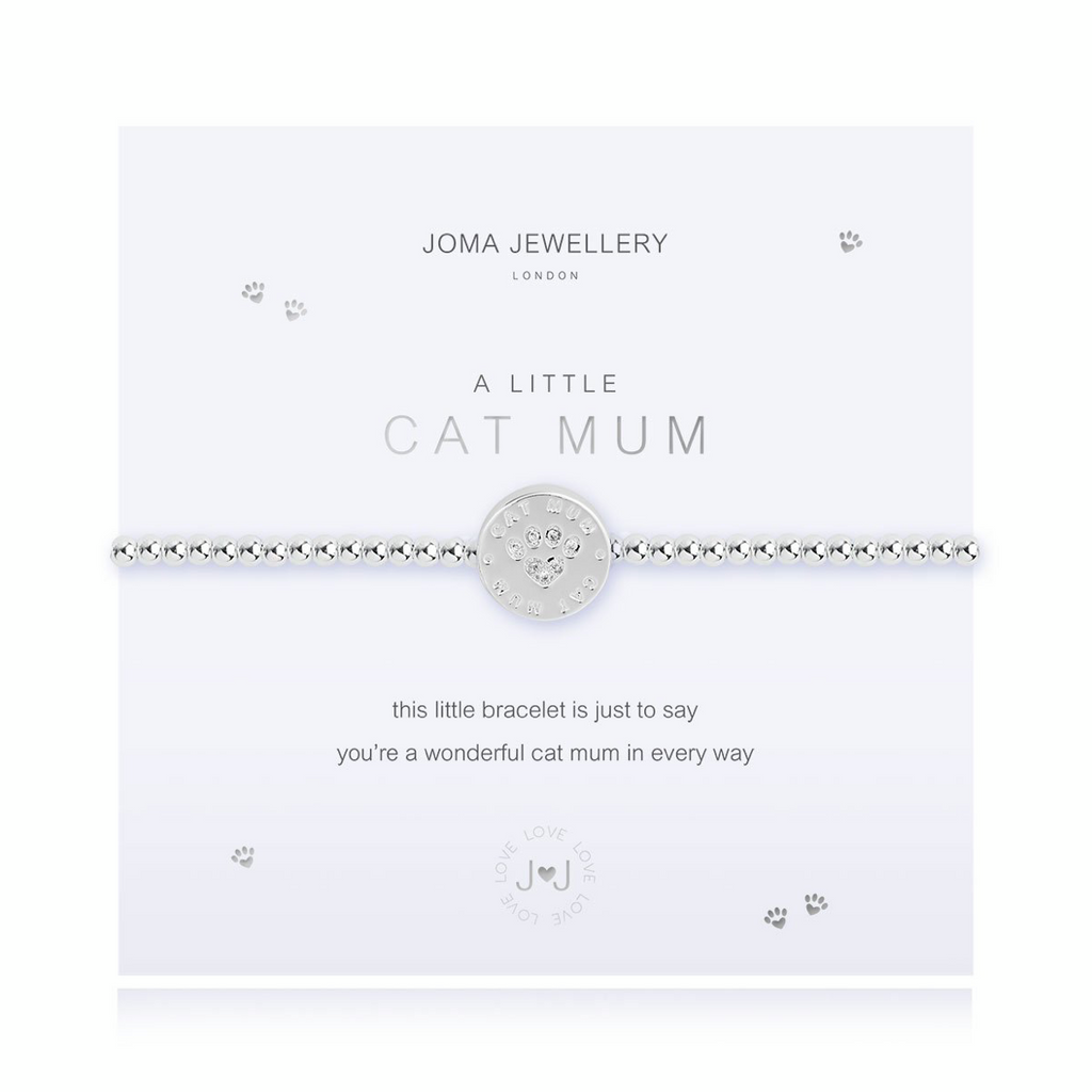 joma jewellery a little cat mum bracelet