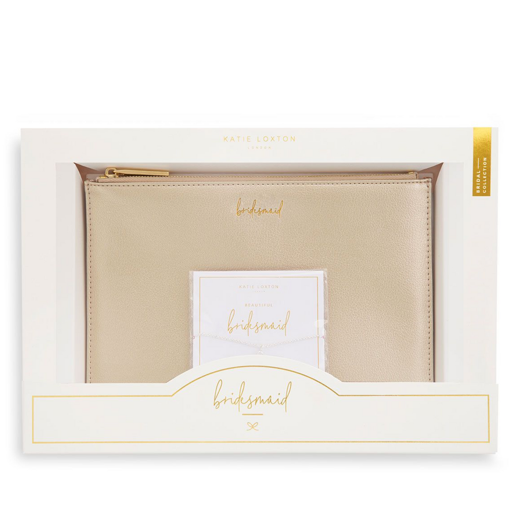 katie loxton bridesmaid pouch and bracelet gift set